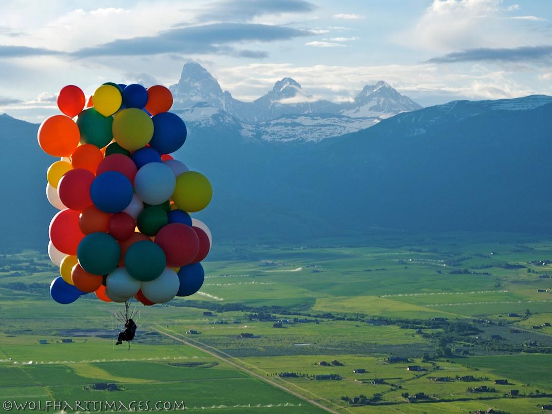 Cluster ballooning in Teton Valley