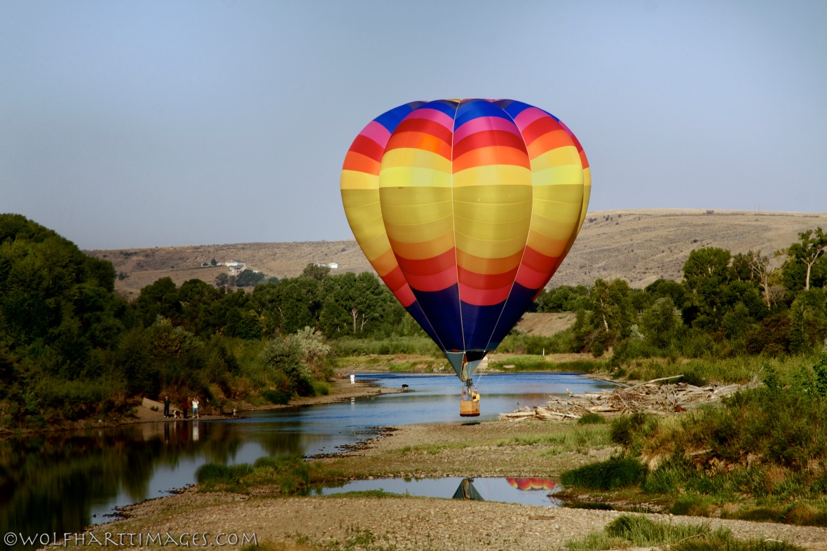 Ballooning over the Yampa River, Craig, CO
