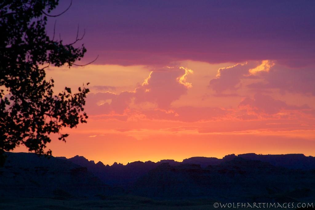 sunset Badlands National Park
