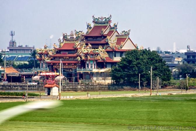 Taiwan, High Speed Rail, temple