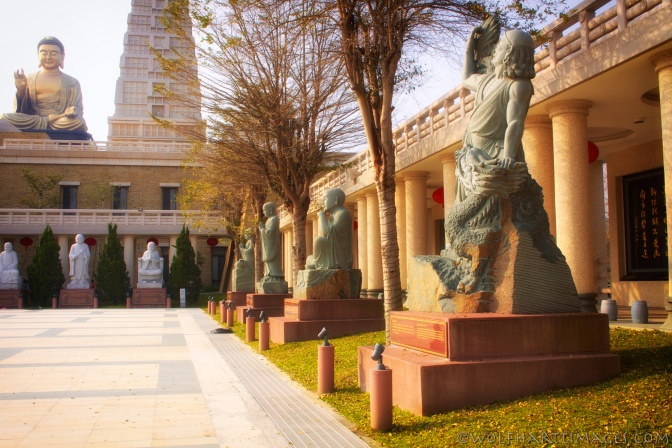 Statues of the Arhats at the Fo Guang Shan Buddha Memorial Center