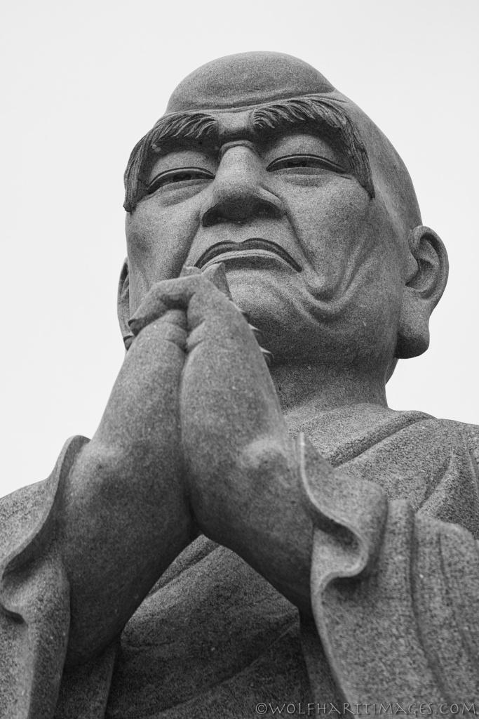 Statue of the Arhat Mahakasyapa at the Fo Guang Shan Buddha Memorial Center