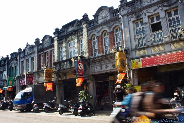 Taiwan, street scene, new years eve, scooters