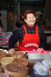 Taiwan, street vendor, sesame cakes