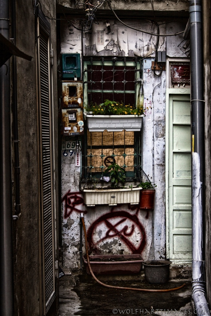 Taiwan, Zhongxi, alley, architecture