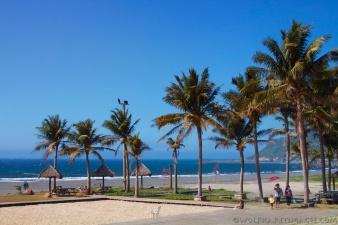 Kaohsuing, beach, Taiwan, palm trees