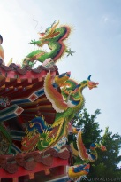 Temple, Kaohsuing, Taiwan, Chinese carvings, dragon, bird