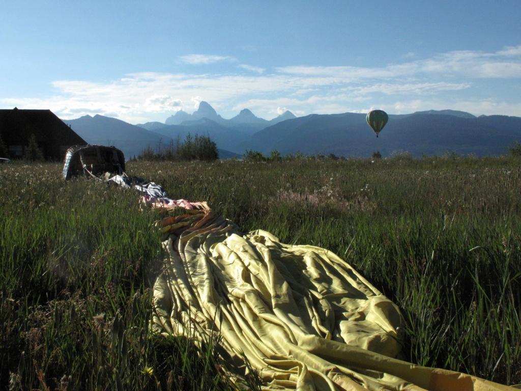 Teton view at landing