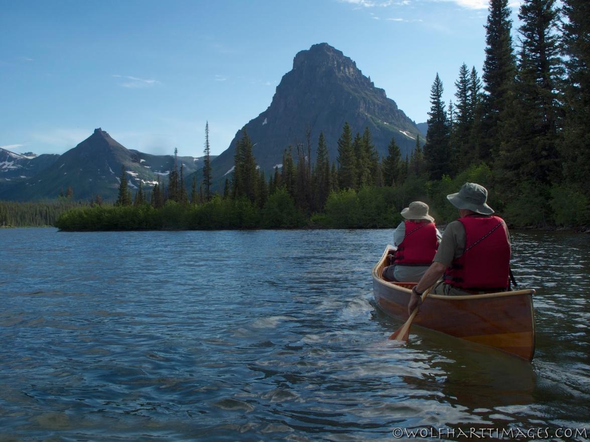 Glacier National Park, Two Medicine Lake, canoeing, boating
