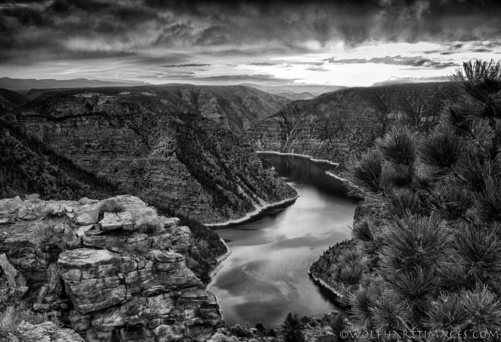 Flaming Gorge in black & white, Silver Efex Pro 2