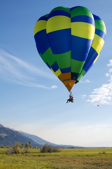 hot air ballooning in the Tetons with a Cameron Cloud hopper