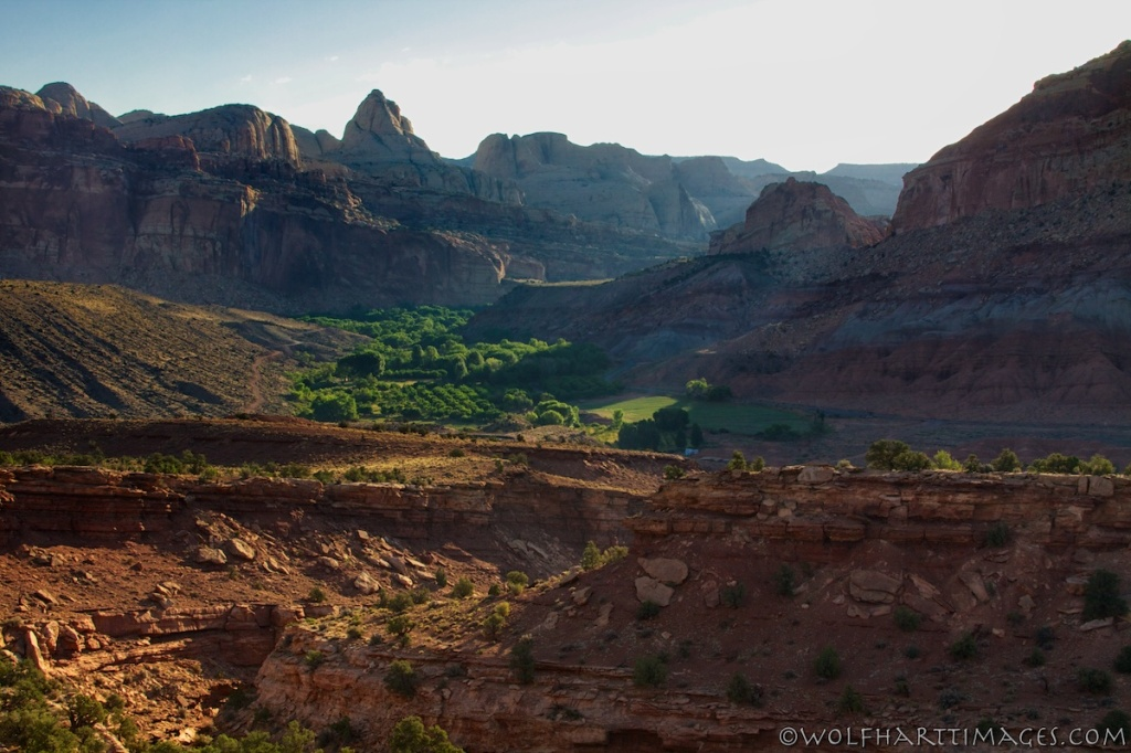 View of the Fruita campground, Capitol Reef National Park