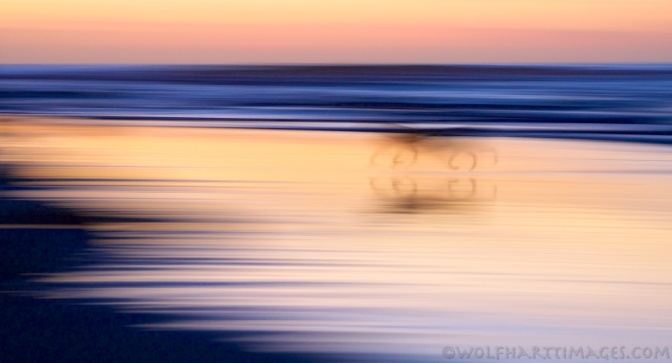 sunset, beach, panning, long exposure
