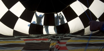 balloon, aviation, crew silhouette