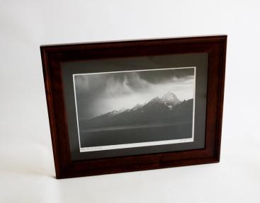 "Photo print 9.5""x13"", finished size 12""x16"", black matte."