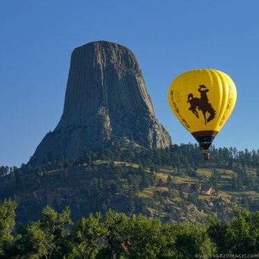Hot air ballooning at Devil's Tower National Monument